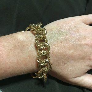 J Crew Large Link Gold Bracelet